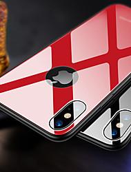 Недорогие -Кейс для Назначение Apple iPhone XR / iPhone XS Max Ультратонкий Кейс на заднюю панель Однотонный Твердый ТПУ / Закаленное стекло для iPhone XS / iPhone XR / iPhone XS Max