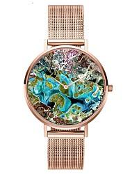 Недорогие -Жен. Наручные часы Японский Кварцевый Нержавеющая сталь Серебристый металл / Розовое золото Секундомер Очаровательный Творчество Аналоговый Дамы Мода Цветной -  / Два года / Два года