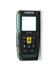 abordables -SATA 62704 0.05~60M Télémètre laser / Télémètre infrarouge Portable / Facile à Utiliser / Affichage rétro-éclairé pour l'installation de meubles / pour la mesure de la maison intelligente / pour la