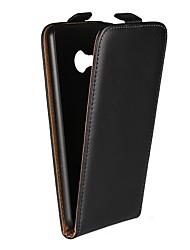 Недорогие -Кейс для Назначение HTC U Ultra / HTC U Play со стендом / Флип Чехол Однотонный Твердый Настоящая кожа для HTC U Ultra / HTC U Play / HTC One M9
