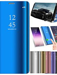 رخيصةأون -غطاء من أجل Huawei Huawei Mate 20 Pro / Huawei Mate 20 تصفيح / مرآة / قلب غطاء كامل للجسم لون سادة قاسي جلد PU إلى Mate 10 / Mate 10 pro / Mate 10 lite