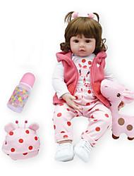 Недорогие -NPKCOLLECTION NPK DOLL Куклы реборн Девочки 18 дюймовый как живой Подарок Ручная работа Безопасно для детей Non Toxic Естественный тон кожи Детские Девочки Игрушки Подарок / CE