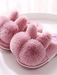 Недорогие -Девочки Обувь Искусственный мех Зима Удобная обувь Тапочки и Шлепанцы Пом пом для Дети Светло-лиловый / Розовый / Светло-Розовый