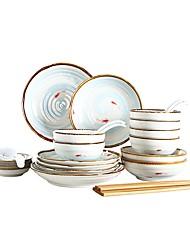 Недорогие -30 шт Глубокие тарелки Обеденные тарелки Стеклянная посуда посуда Фарфор Керамика Творчество Новый дизайн обожаемый