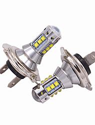 Недорогие -2pcs H7 Автомобиль Лампы 50W Высокомощный LED 5000lm Налобный фонарь