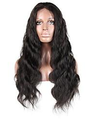 Недорогие -Не подвергавшиеся окрашиванию человеческие волосы Remy Полностью ленточные Парик Стрижка каскад Средняя часть Боковая часть стиль Бразильские волосы Естественные кудри Парик 130% Плотность волос