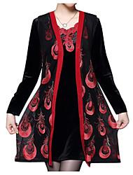 Недорогие -Жен. Классический Оболочка Платье - Однотонный / Геометрический принт Выше колена
