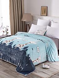 Недорогие -Одеяла, Мультипликация 100%микро волокно Сгущать одеяла