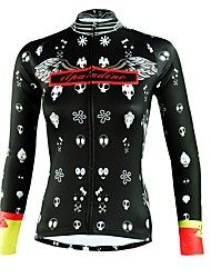 cheap -ILPALADINO Women's Long Sleeve Cycling Jersey - Black Fashion Bike Top Ultraviolet Resistant Sports Winter Elastane Mountain Bike MTB Road Bike Cycling Clothing Apparel