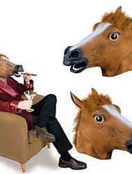 Недорогие -Голова лошади Маски на Хэллоуин Товары для Хэллоуина Лошадь Ужасы Ластик клей Взрослые Муж. Жен. Игрушки Подарок 1 pcs
