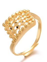 Недорогие -Жен. Классический Кольцо Регулируемое кольцо - Позолота Роскошь, гипербола, Мода Золотой Назначение Свадьба Подарок