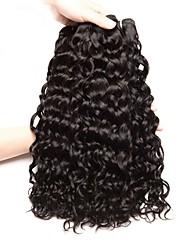 Недорогие -3 Связки Перуанские волосы Индийские волосы Волнистый Волнистые 8A Натуральные волосы Необработанные натуральные волосы Подарки Человека ткет Волосы Сувениры для чаепития 8-28 дюймовый / Черный
