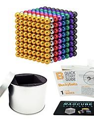 Недорогие -512 pcs 5mm Магнитные игрушки Магнитные шарики Конструкторы Сильные магниты из редкоземельных металлов Неодимовый магнит Магнитный / Стресс и тревога помощи