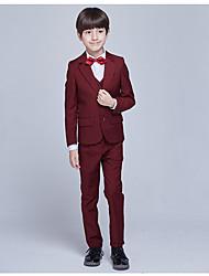 Недорогие -Бордовый Полиэфир Детский праздничный костюм - 1 комплект Включает в себя Жилетка
