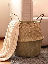 Недорогие -плетеный Круглый Творчество / Новый дизайн Главная организация, 1шт Корзины для хранения
