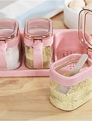 Недорогие -Кухонная организация Приправы Стекло / ПП (полипропилен) Аксессуар для хранения 1 комплект