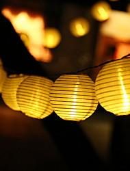 Недорогие -4.6м Гирлянды 20 светодиоды Тёплый белый Декоративная Солнечная энергия 1 комплект