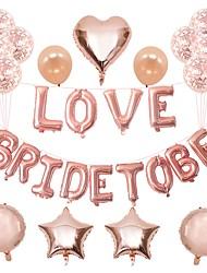 Недорогие -Воздушный шар Фольга 1 комплект Свадьба