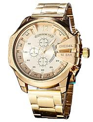 Недорогие -Муж. Наручные часы Японский Кварцевый Нержавеющая сталь Черный / Серебристый металл / Золотистый Календарь Секундомер Повседневные часы Аналоговый Кольцеобразный Мода -  / Два года / Два года