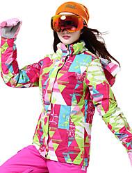 Недорогие -Wild Snow Жен. Лыжная куртка С защитой от ветра Теплый Вентиляция Катание на лыжах Разные виды спорта Снежные виды спорта Полиэстер Пуховики Одежда для катания на лыжах / Зима