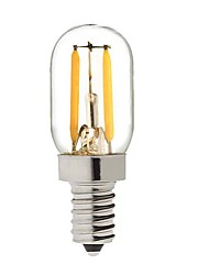 billiga -KWB 2W 150-200lm E14 LED-globlampor S14 2 LED-pärlor COB Bimbar Varmvit 220-240V