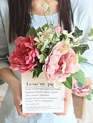 Недорогие -Искусственные Цветы 1 Филиал Классический Стиль / Свадебные цветы Пионы / Pастений Букеты на стол
