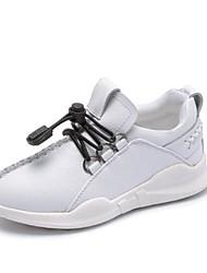 Недорогие -Мальчики Обувь Кожа Наступила зима Удобная обувь Спортивная обувь Для прогулок Шнуровка для Дети / Для подростков Белый / Черный