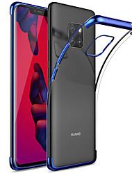 Недорогие -Кейс для Назначение Huawei Huawei Mate 20 Pro / Huawei Mate 20 Покрытие / Прозрачный Кейс на заднюю панель Однотонный Мягкий ТПУ для Mate 10 / Mate 10 pro / Mate 10 lite / Mate 9 Pro