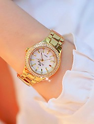 Недорогие -Жен. Наручные часы Diamond Watch золотые часы Японский Кварцевый Нержавеющая сталь Золотистый 30 m Творчество Имитация Алмазный Аналоговый Дамы Роскошь Мода Bling Bling - / Два года / Два года