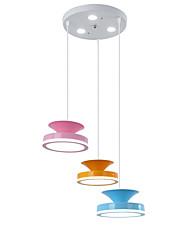 hesapli -QINGMING® 3-Işık Mini Avize Lambalar Ortam Işığı Boyalı kaplamalar Metal Mini Tarzı 110-120V / 220-240V Çok Renkli / VDE