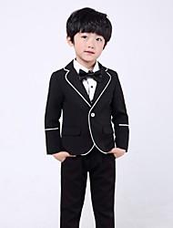 Недорогие -Бордовый / Черный Полиэфир Детский праздничный костюм - 1 комплект Включает в себя Куртка