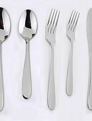 お買い得  -食器類 5個 新デザイン ステンレス鋼 ディナーフォーク ディナーナイフ ティースプーン