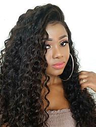 Недорогие -человеческие волосы Remy Натуральные волосы 6x13 Тип замка Лента спереди Парик Глубокое разделение Боковая часть стиль Бразильские волосы Волнистый Крупные кудри Парик 250% Плотность волос