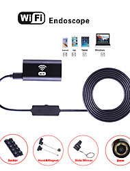 billiga -wifi endoskop kamera 8mm lins vattentät inspektion borescope ip67 hd endoskop orm ios android tablett hårt rör 2m