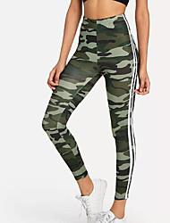 billige -Dame Basale Legging - camouflage Høj Talje