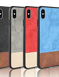 Недорогие -Кейс для Назначение Apple iPhone XR / iPhone XS Max Матовое Кейс на заднюю панель Однотонный Твердый Кожа PU для iPhone XS / iPhone XR / iPhone XS Max