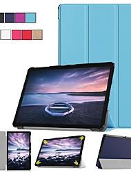Недорогие -Кейс для Назначение SSamsung Galaxy Tab S4 10.5 (2018) / Tab A2 10.5(2018) со стендом / Флип / Оригами Чехол Однотонный Твердый Кожа PU для Tab S4 10.5 (2018) / Tab A2 10.5(2018)