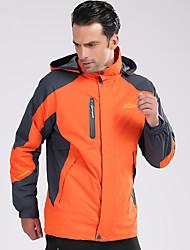 Недорогие -Deshengren® Муж. Куртка для туризма и прогулок / Куртки 3-в-1 На открытом воздухе Осень / Зима С защитой от ветра, Водонепроницаемость, Сохраняет тепло Зимняя куртка / Верхняя часть / Дышащий
