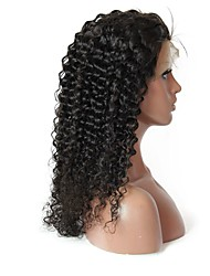 cheap -Virgin Human Hair Remy Human Hair Full Lace Wig Layered Haircut Middle Part Side Part style Brazilian Hair Jerry Curl Wig 180% Density Soft Natural Natural Hairline African American Wig 100% Virgin