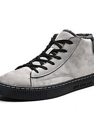 Недорогие -Муж. Комфортная обувь Искусственная кожа Зима На каждый день Кеды Сохраняет тепло Черный / Серый / Хаки