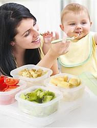 baratos -Organização de cozinha Armazenamento de alimentos Plástico Armazenamento / Gadget de Cozinha Criativa / Fácil Uso 4pçs