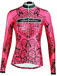 cheap -ILPALADINO Women's Long Sleeve Cycling Jersey - Red Fashion Bike Top Ultraviolet Resistant Sports Winter Elastane Mountain Bike MTB Road Bike Cycling Clothing Apparel