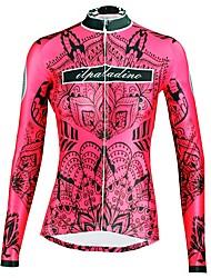 tanie -ILPALADINO Damskie Długi rękaw Koszulka rowerowa - Czerwony Moda Rower Top Odporność na promieniowanie UV Sport Zima Elastyna Kolarstwo górskie Kolarstwie szosowym Odzież