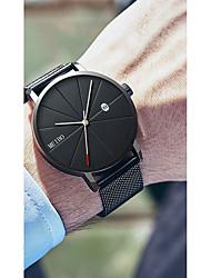 Недорогие -Муж. электронные часы Кварцевый Нержавеющая сталь Черный / Серебристый металл / Золотистый 30 m Защита от влаги Календарь Повседневные часы Аналоговый На каждый день Мода -