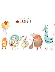 Недорогие -Декоративные наклейки на стены - Простые наклейки Животные / Праздник Столовая / Детская