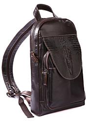 Недорогие -Универсальные Мешки Слинг сумки на ремне Рельефный Сплошной цвет Черно-серый / Темно-коричневый