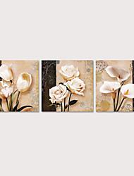 Недорогие -рулонные отпечатки на холсте 3 шт. стены искусства цветок тюльпаны картины настенный плакат для гостиной