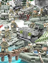 Недорогие -Конструкторы Фигурки из блоков Конструкторы Игрушки 152 pcs Армия Танк Soldier совместимый Legoing моделирование Военная техника Танк Все Мальчики Девочки Игрушки Подарок / Обучающая игрушка