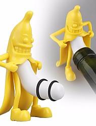 Недорогие -мультфильм банан форма бутылка красного вина пробка пробка для пива пробка