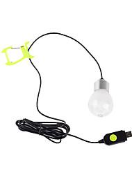 Недорогие -C9 Походные светильники и лампы Аварийные лампы Светодиодные лампы Светодиодная лампа LED 1 излучатели 260 lm 3 Режим освещения с USB кабелем Портативные, Новый дизайн